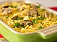 Polenta Crocante com Ragu de Cogumelos (vegana)