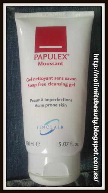 Papulex Moussant - Gel limpiador sin jabón de Sinclair