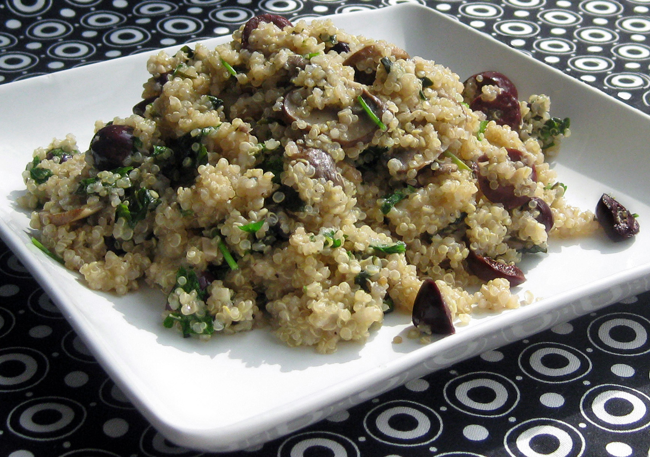 ... with Corey: Recipe #291: Mushroom-Olive Quinoa Pilaf with Fresh Herbs