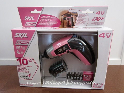 Pink SKIL iXO Palm-Sized Screwdriver Kit