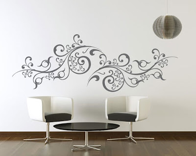 Gali art graphisme et d coration stickers arabesque for Stickers salon design
