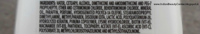 Tresemme Split Remedy Conditioner Ingredients