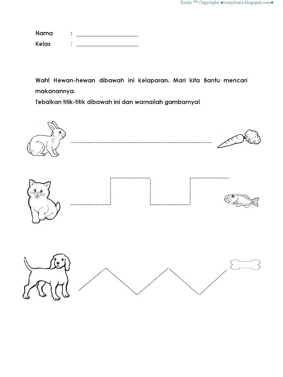 Worksheets Worksheet-belajar-membaca belajar menulis mulai dari menebalkan titik learning is fun titik