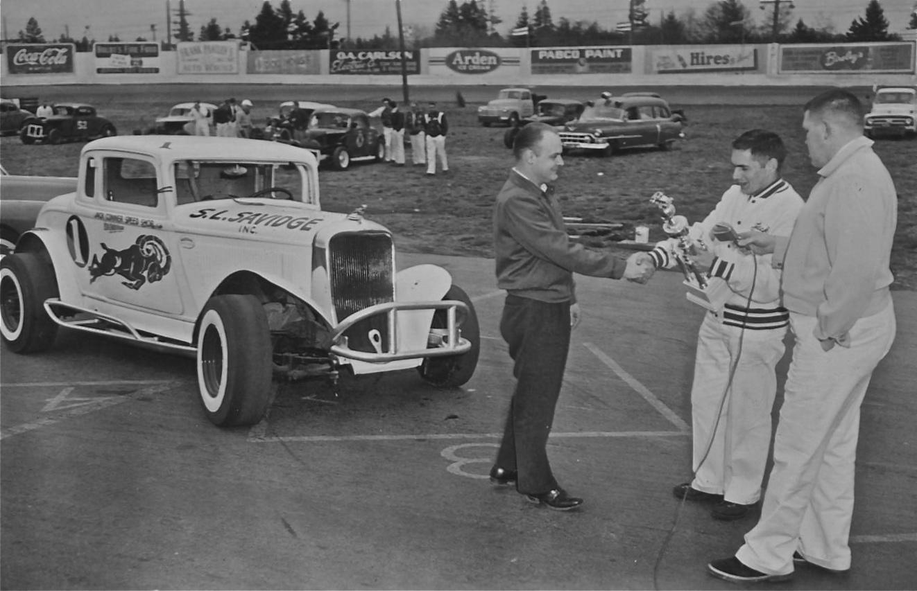 Northwest Auto Racing, 1950s: Aurora Speedway, 1954. Jack