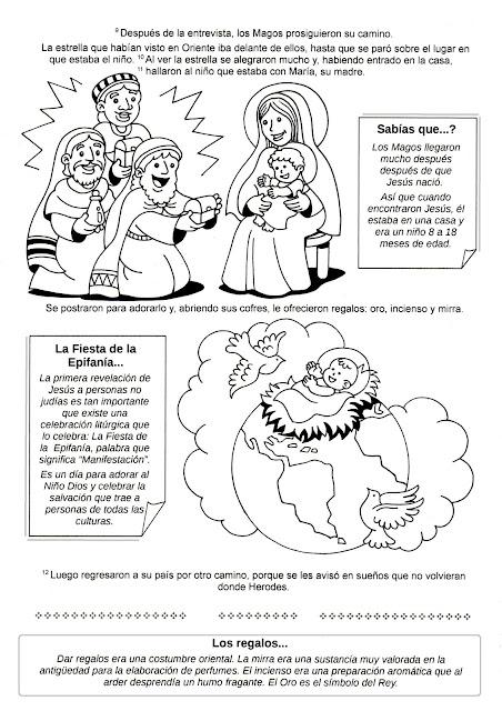 Hojas de trabajo sobre la virgen de guadalupe