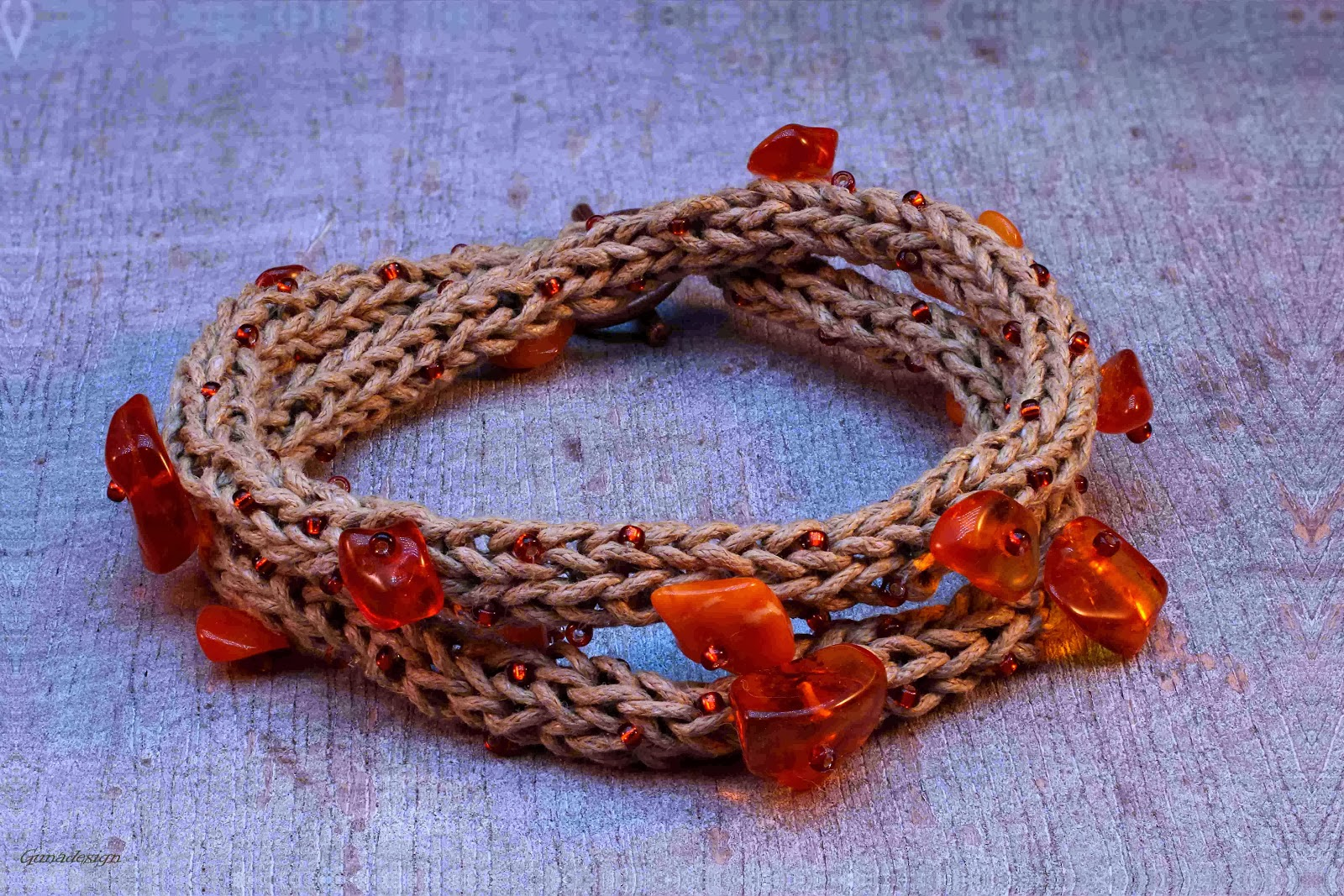 gunadesign Wrapped Baltic Amber Bracelet