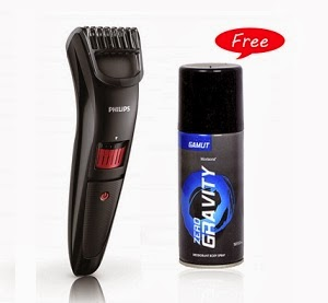 Philips QT4005-15 Beard & Stubble Trimmer for Rs.999 & Get Free Zero Gravity Gamut Deodorant (150 Ml) Worth Rs.160