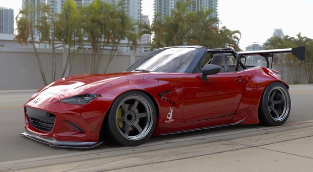 tuning mazda mx 5 mit rocket bunny widebody kit myauto24. Black Bedroom Furniture Sets. Home Design Ideas