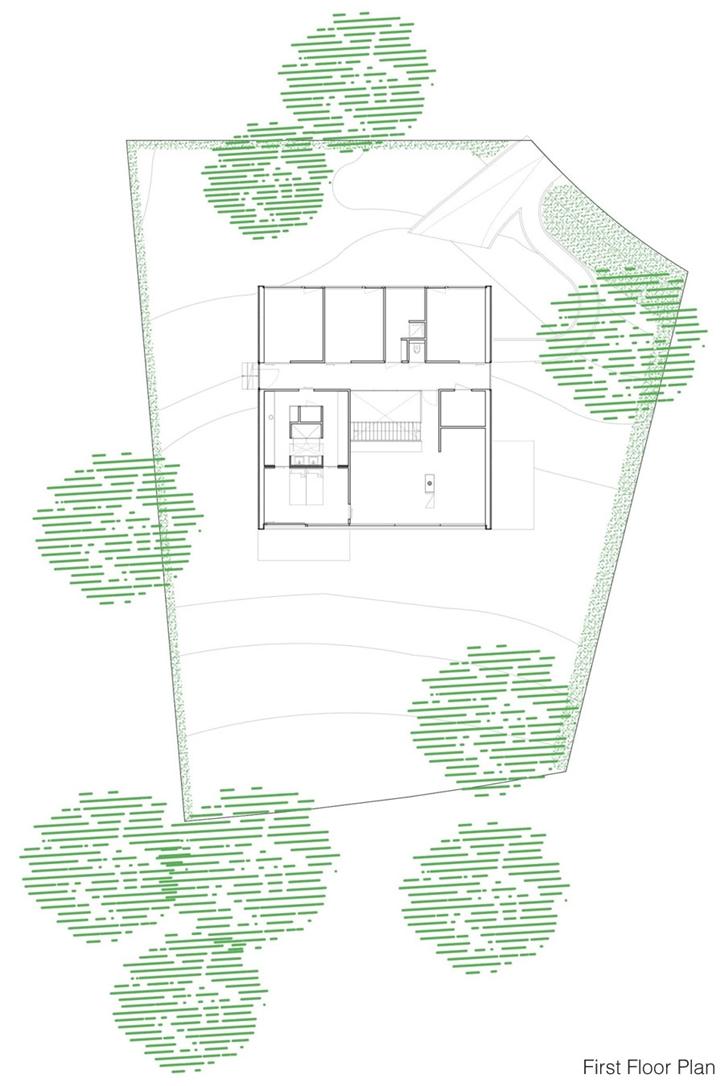 First floor of Modern Villa V by Paul de Ruiter Architects