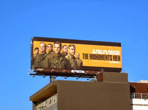 The Monuments Men movie billboard