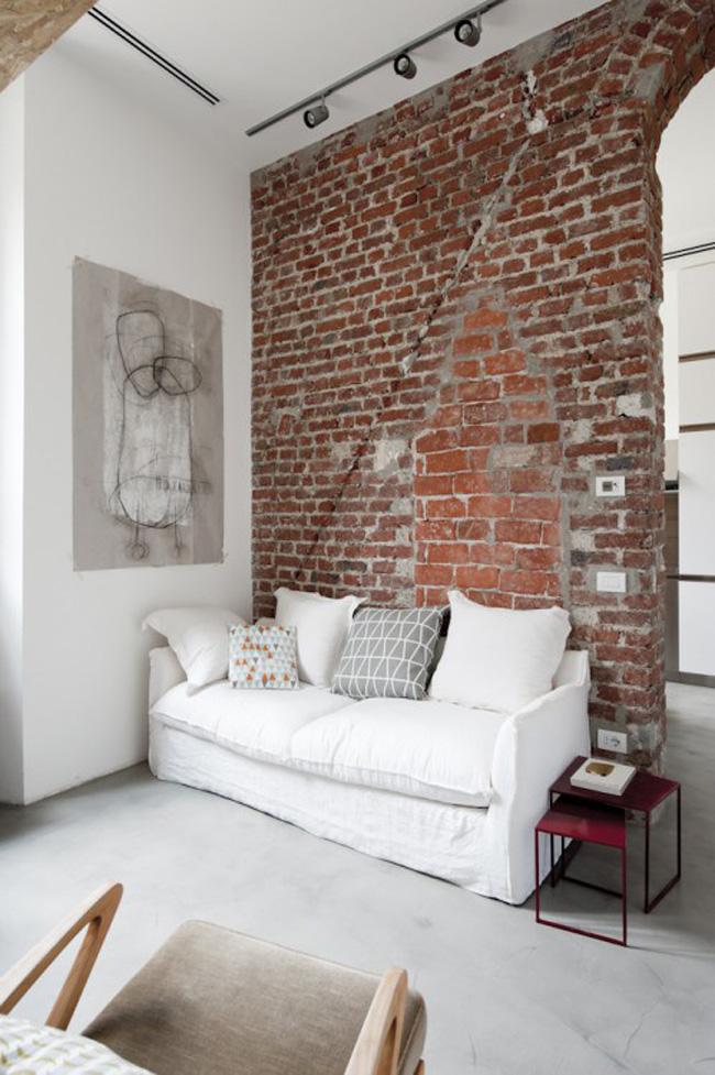 salon espacio pequeño loft 30m2