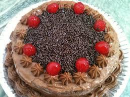 Receita de Bolo de chocolate com cerejas