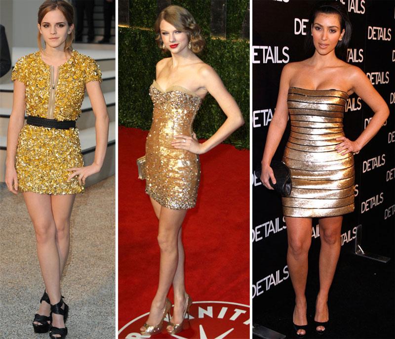 vestido dourado Qual makeup usar com vestido dourado?