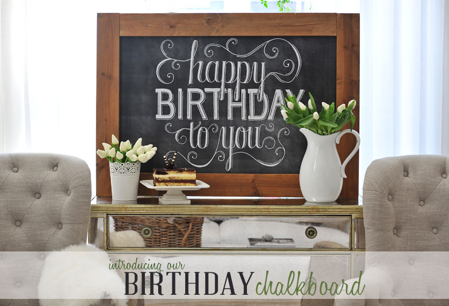 Happy Birthday To You Chalkboard And Celebrating Everyday Life With Jennifer Carroll