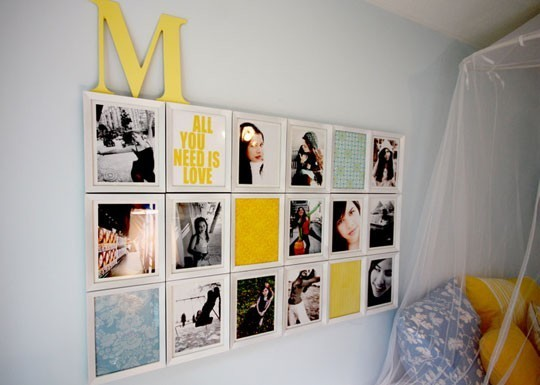 In the end  I decided to hang the photos in a really unique way  to create  interest. I Am Momma   Hear Me Roar  Photo Collage  for the Master Bedroom