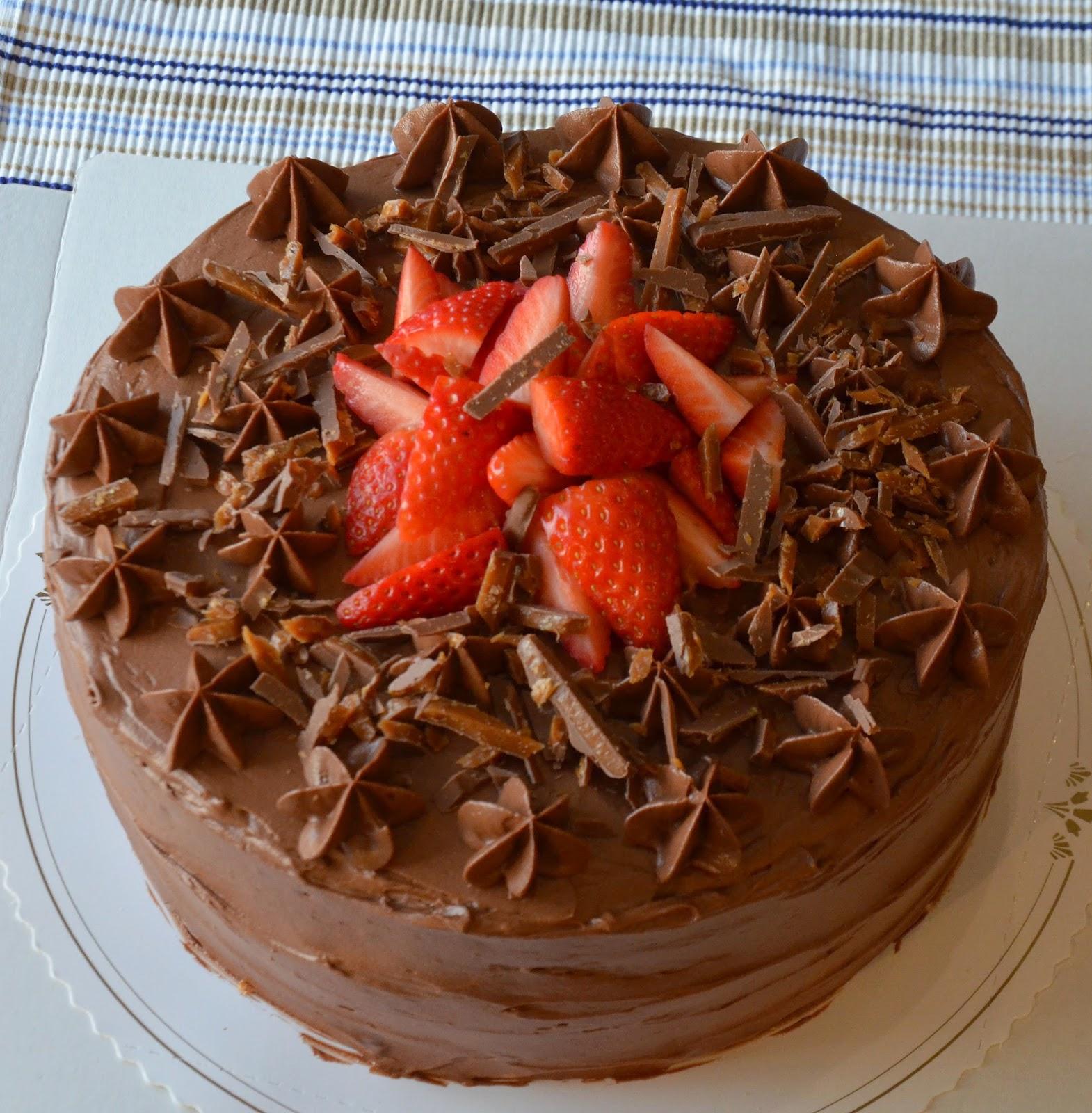 tårta med banan och choklad