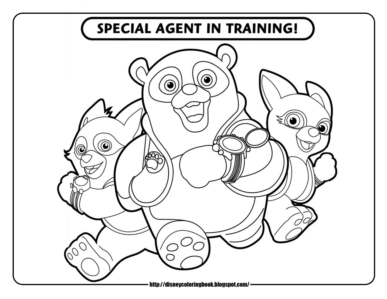 Disney Coloring Pages And Sheets For Kids Special Agent Disney Jr Coloring Pages