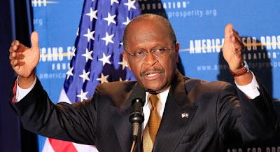 Herman Cain says it's this big