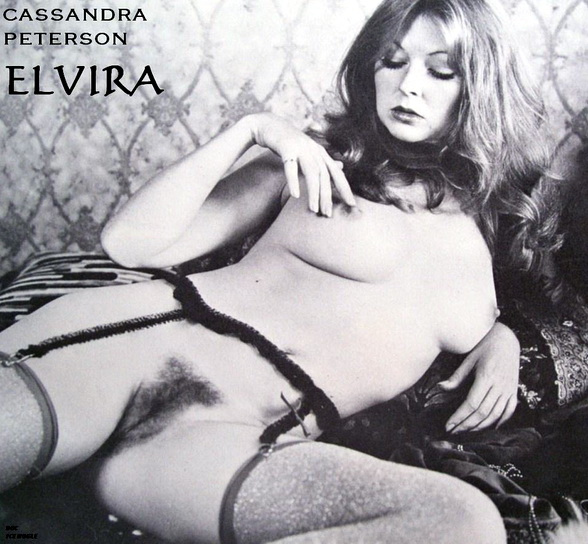 Very Rare Black White Featuring Cassandra Peterson Posing In
