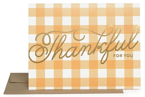 Thankful Card from The Social Type