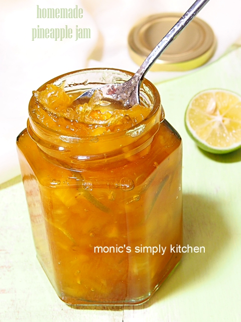 pineapple jam homemade resep