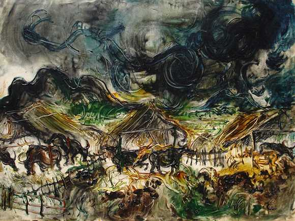 Affandi Painting Water Buffalo Stall