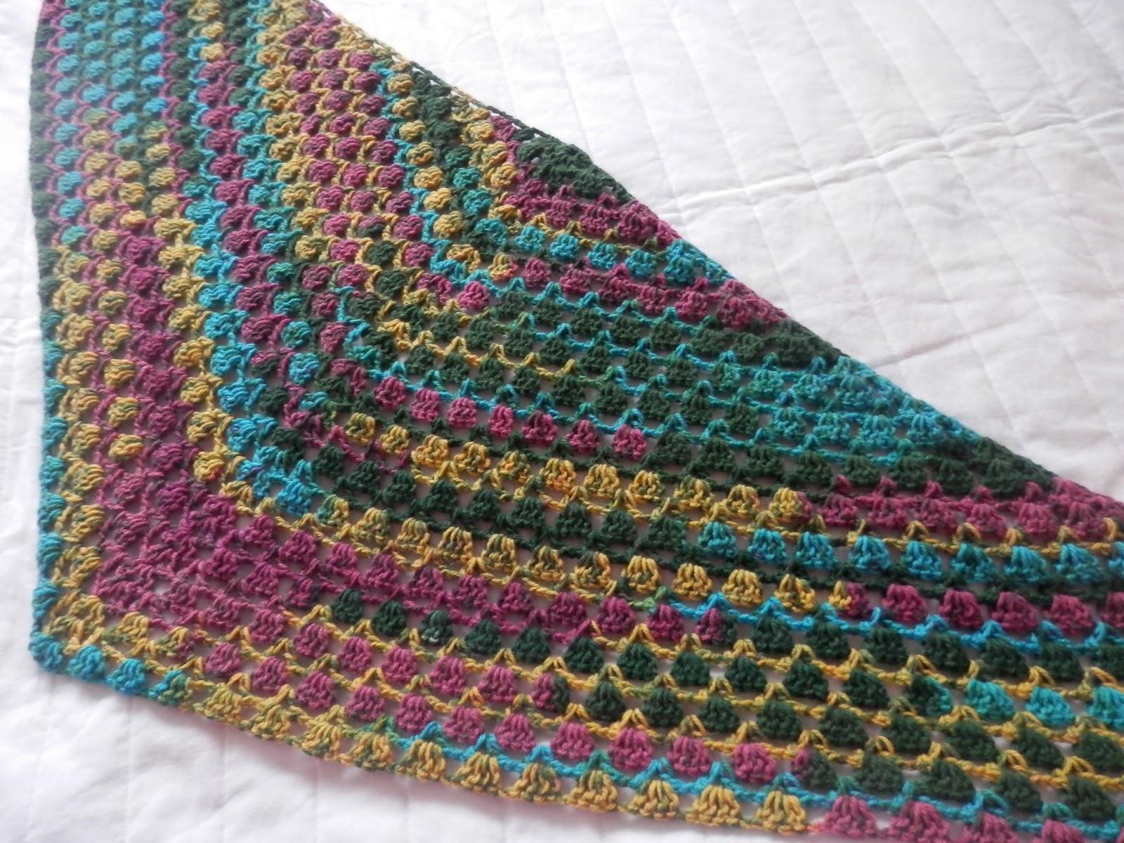 Funky Crochet Afghan Patterns Using Variegated Yarn Images - Sewing ...