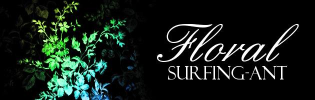 細かい所まで書き込まれていてオシャレな花ブラシセット | 花や草がモチーフのフリーブラシ。商用可。