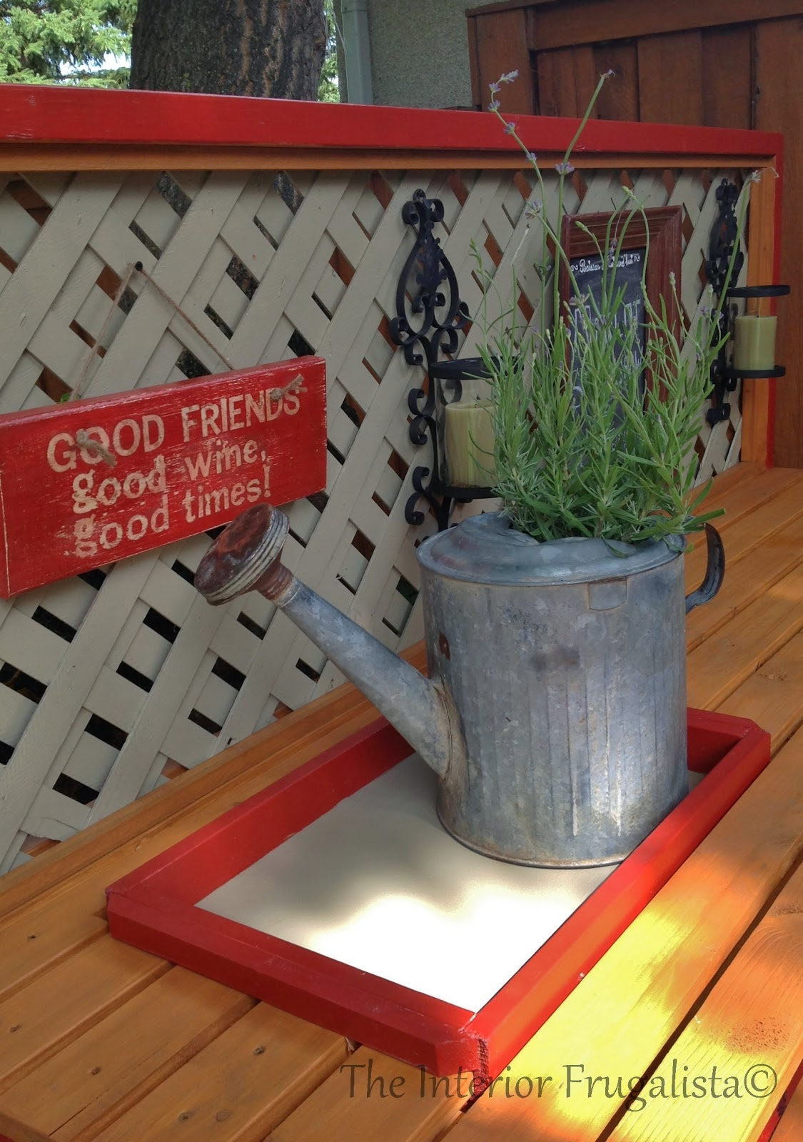 Easy DIY potting bench and outdoor bar with DIY sign