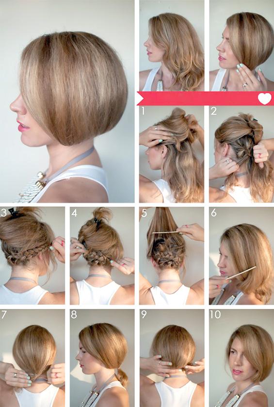 Прически для волнистых волос средней длины своими руками