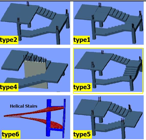 Pacote com diversas planilhas p/ cálculo de escadas