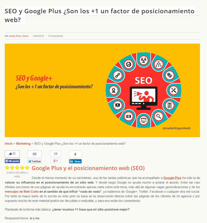 Google+ y SEO