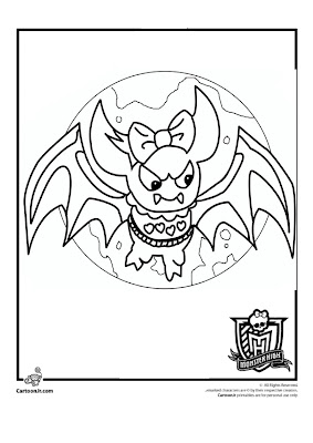 Draculaura Monster High Pets Coloring Pages