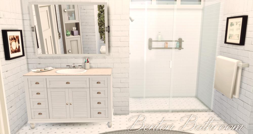 My sims 4 blog benton bathroom set by kiararawks for Bathroom ideas sims 4