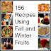 Fall and Winter Fruit Recipe Round Up
