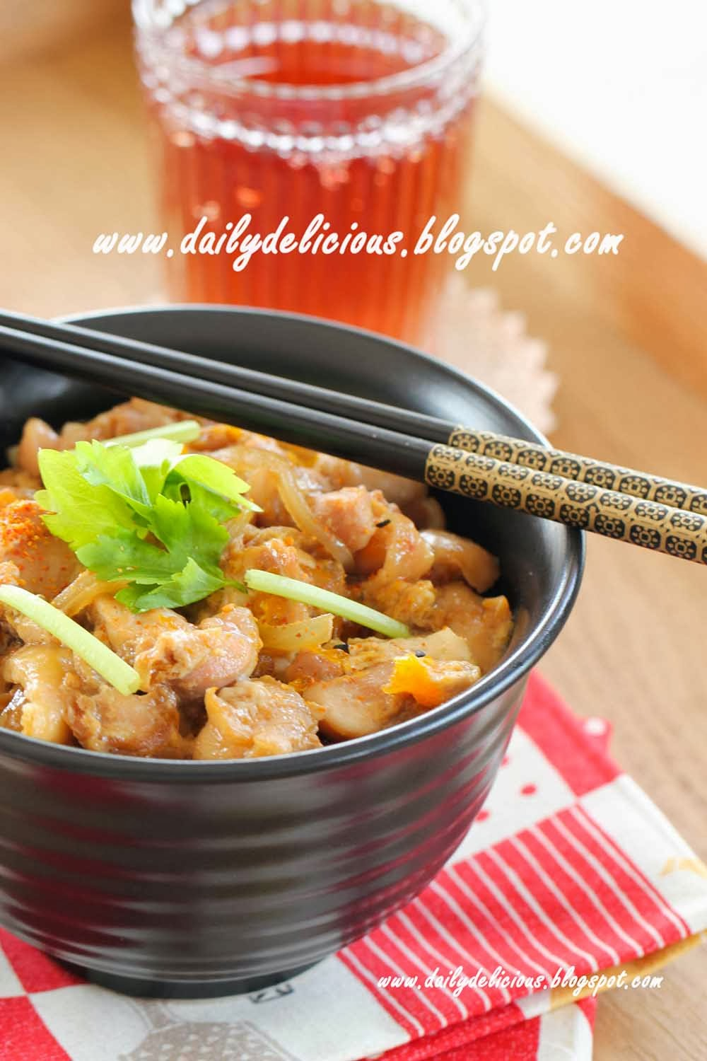 ... cooking: Microwave Oyakodon, Chicken and egg rice bowl (親子丼