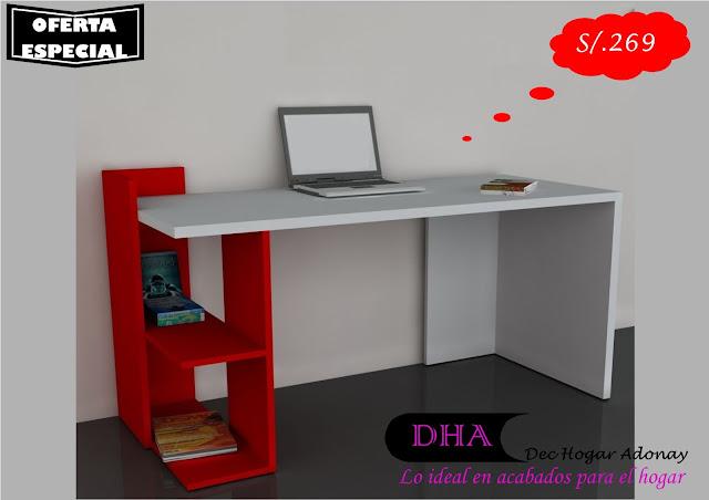 Muebles de melamine y madera en general escritorio - Libreros de madera modernos ...