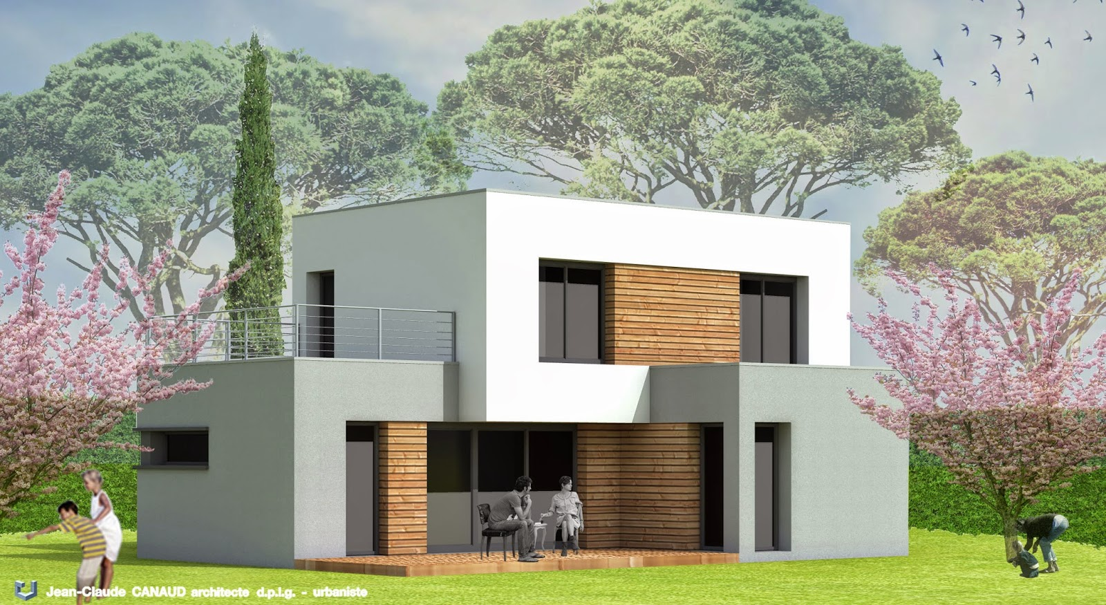 canaud architecte projets de villas contemporaines gard. Black Bedroom Furniture Sets. Home Design Ideas