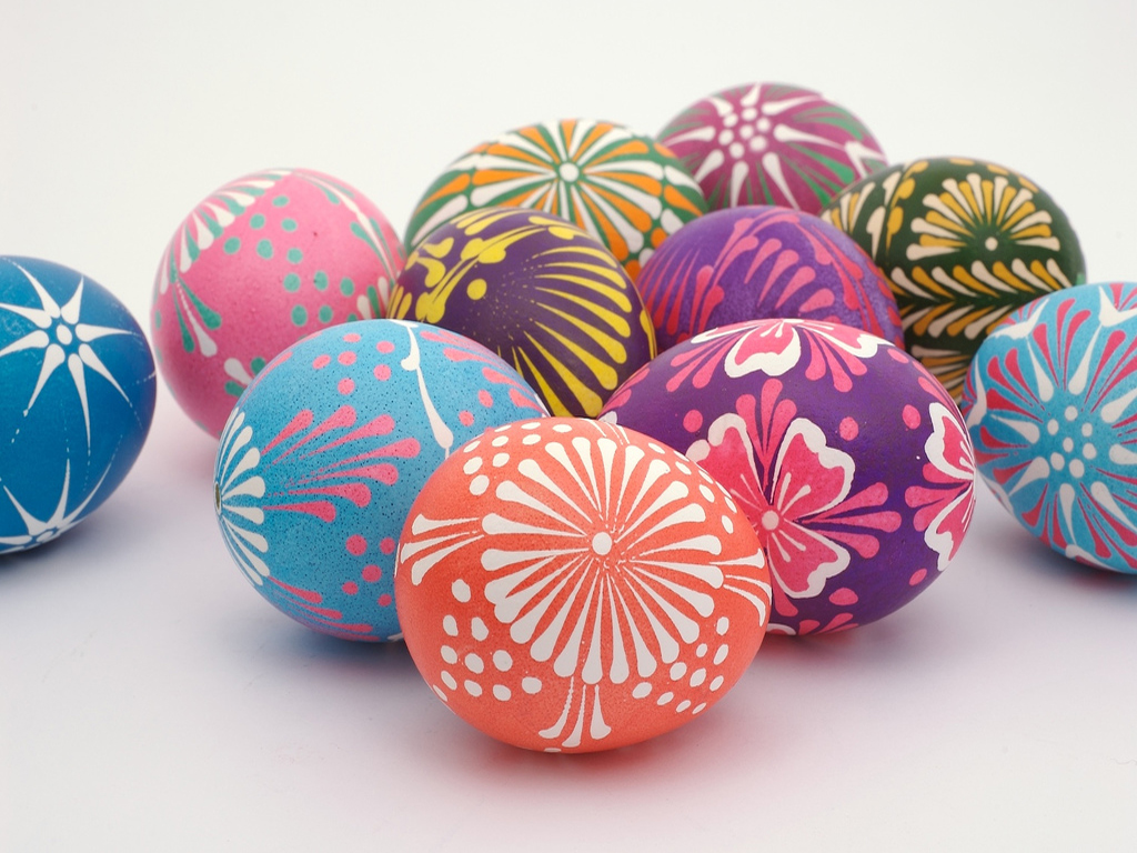 CHECK THESE OUT! They're Polish Easter Eggs! Perhaps Wycinanki eggs ...