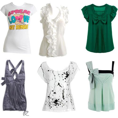 blusas para todos los gustos...diferentes modelos...
