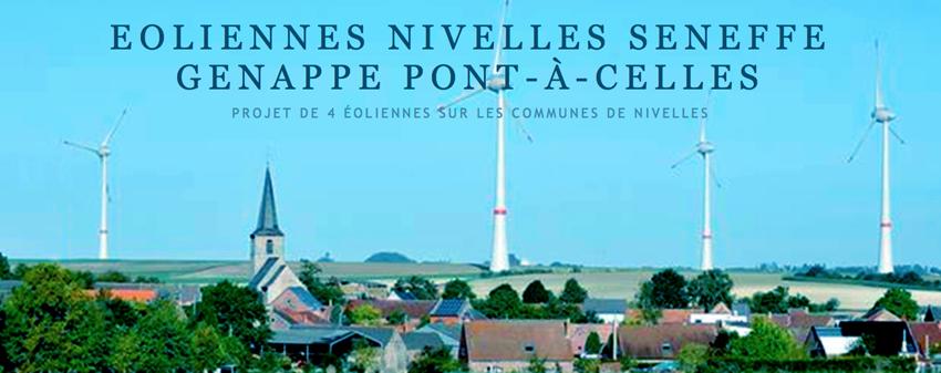 Eoliennes Nivelles Seneffe Genappe Pont-à-Celles