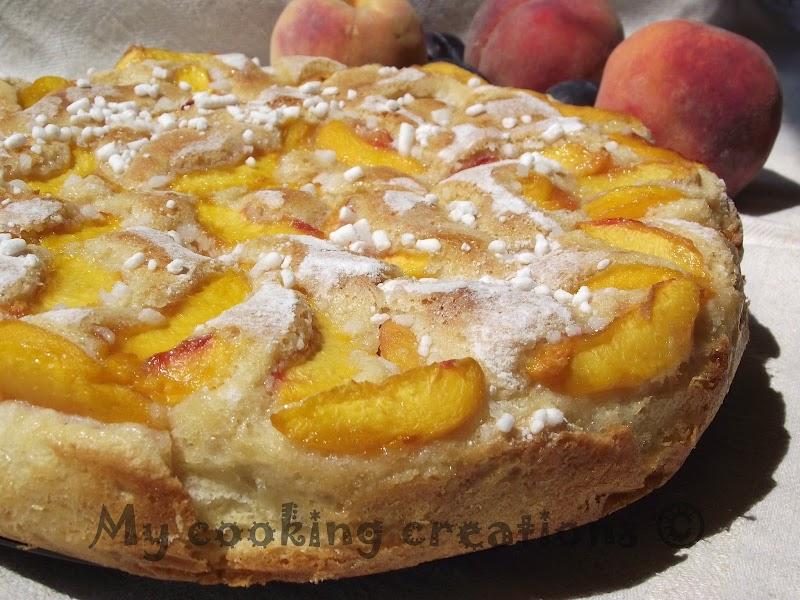 Torta di pesche * Тортата с праскови на Ивана