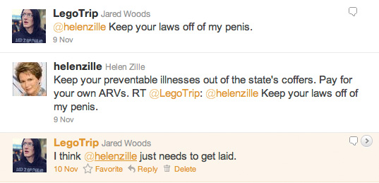 Jared Woods vs. Helen Zille