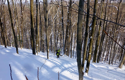 A father-son trek to earn turns in our backyard backcountry, the Kalabus-Perry forest in Saratoga County.  The Saratoga Skier and Hiker, first-hand accounts of adventures in the Adirondacks and beyond, and Gore Mountain ski blog.