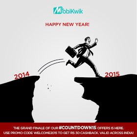 Mobikwik New Year Recharge Offer - Add Rs 299 & Get Rs 30 Cashback In Your Wallet