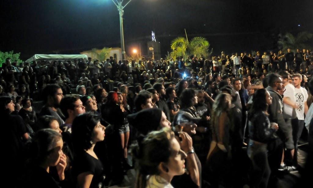 Centenas de pessoas estiveram presentes e lotaram a Casa de Cultura nos três dias do 1º Grito Rock