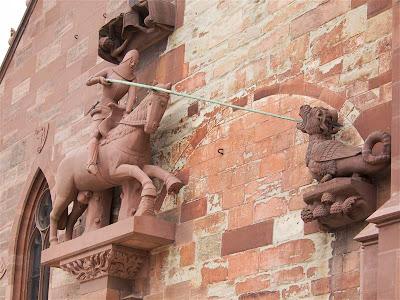 Fachada de la Catedral de Basilea (Basler Münster)