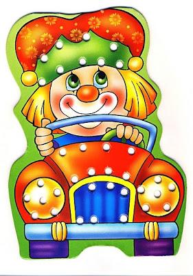 Desenho de palhaço colorido