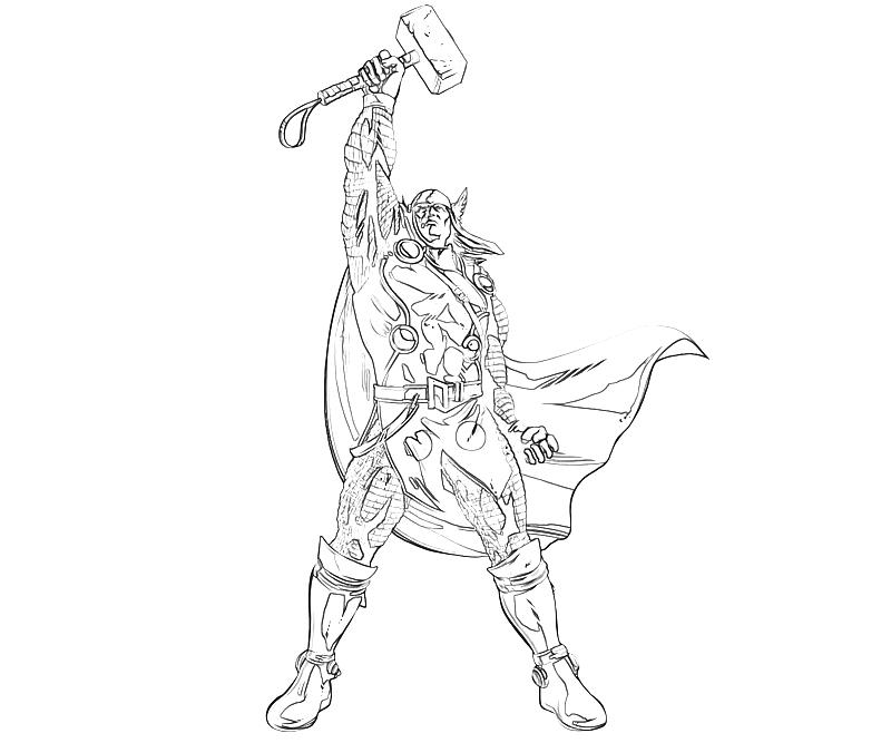 Pages Of Thors Hammer Coloring Pages
