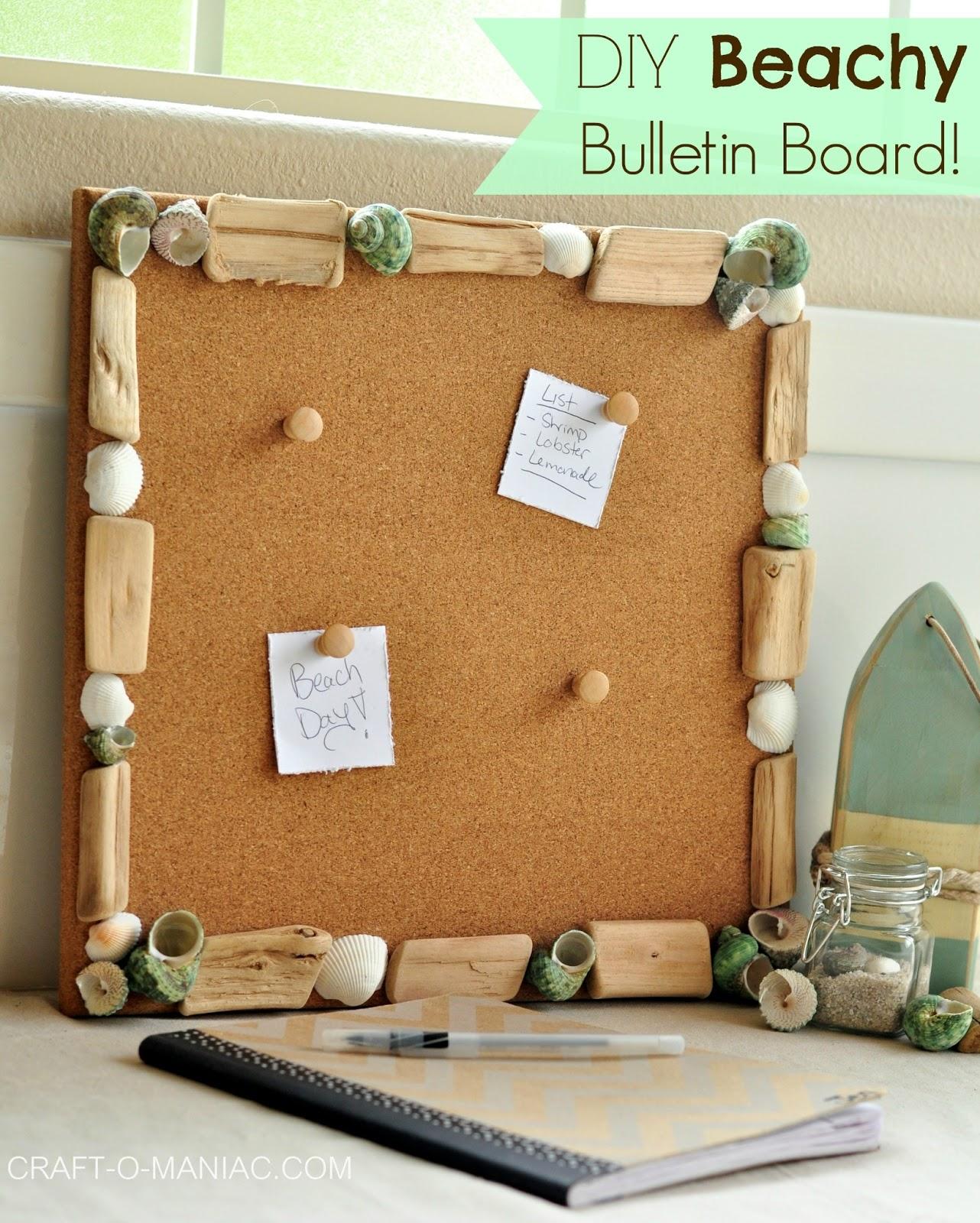 Diy Beachy Bulletin Board Craft O Maniac